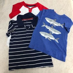 Toddler boys short sleeve shirts size 4T